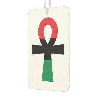Rotes, schwarzes u. grünes Ankh Autolufterfrischer
