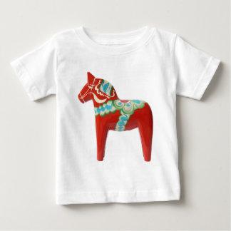 Rotes Schwede Dala Pferd Baby T-shirt