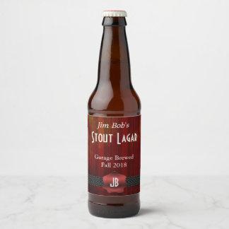 Rotes Siegel-mit Monogramm kundenspezifischer Bierflaschenetikett