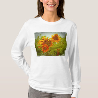 Rotes Sonnenblume-Foto T T-Shirt