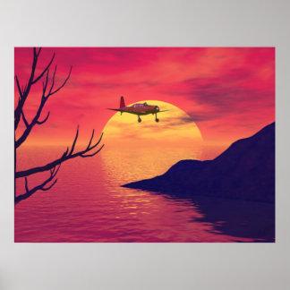 Rotes Sonnenuntergang ~Print~ Poster
