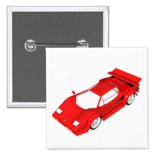 Rotes Sport-Auto Anstecknadel