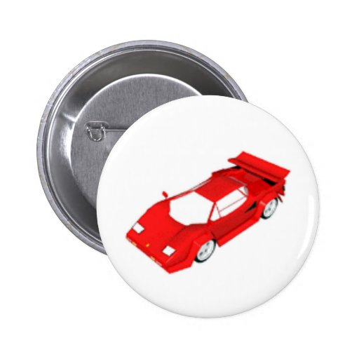 Rotes Sport-Auto Anstecknadelbuttons
