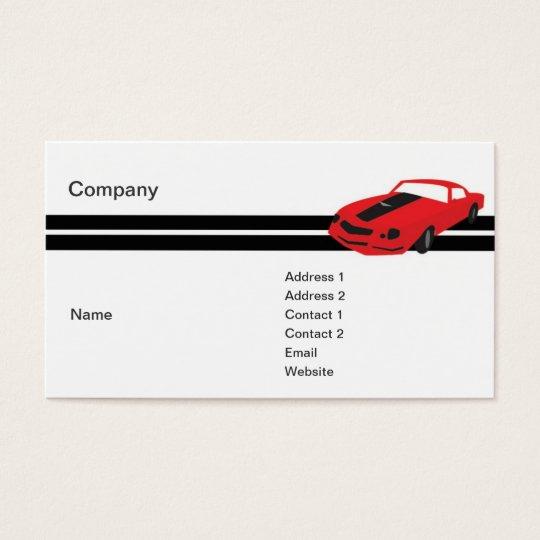 Rotes Sport-Auto - Geschäft Visitenkarte
