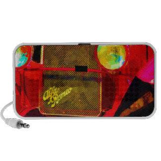 Rotes Sport-Auto iPod Speaker