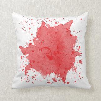 Rotes Spritzer-Kissen Kissen