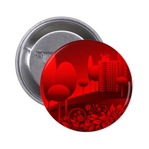 rotes städtisches anstecknadel