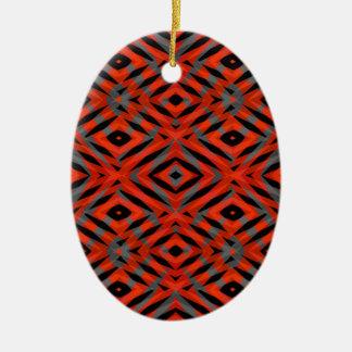 Rotes Stammes- Formmuster Keramik Ornament