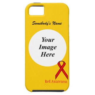 Rotes Standardband durch Kenneth Yoncich iPhone 5 Schutzhüllen