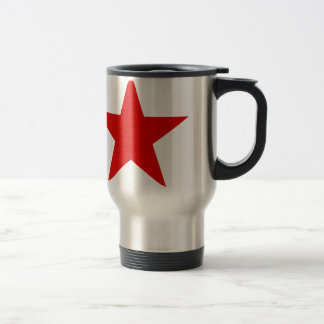 Rotes Stern ★ Edelstahl Thermotasse