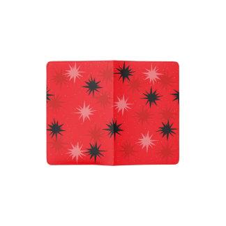 Rotes Sternexplosion-Taschen-atomarnotizbuch Moleskine Taschennotizbuch