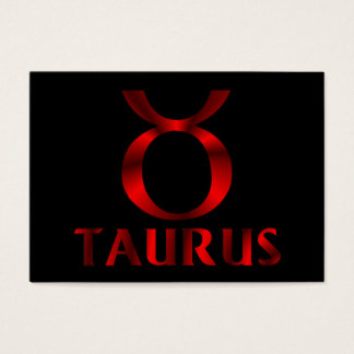 Rotes Stier-Horoskop-Symbol Visitenkarte