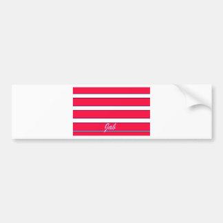 Rotes Stoß-Kreationens-Bild Autoaufkleber
