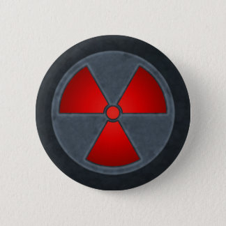 Rotes Strahlungs-Symbol Runder Button 5,1 Cm
