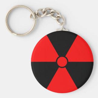 Rotes Strahlungs-Symbol Schlüsselanhänger