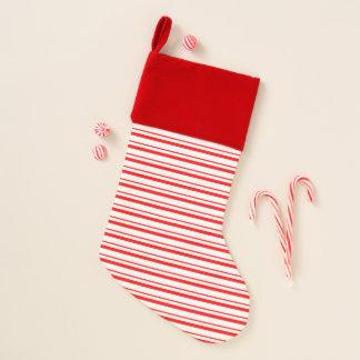 Rotes Streifen-Muster-Weihnachten Stockin Weihnachtsstrumpf