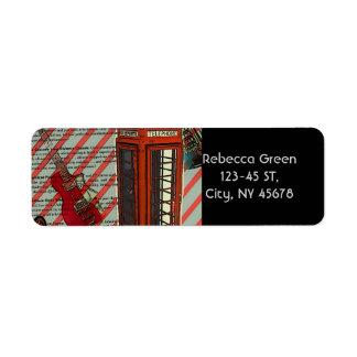Rotes Telefon-Band-Rock'n'Roll-elektrische Gitarre
