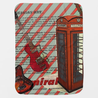 Rotes Telefon-Band-Rock'n'Roll-elektrische Gitarre Puckdecke