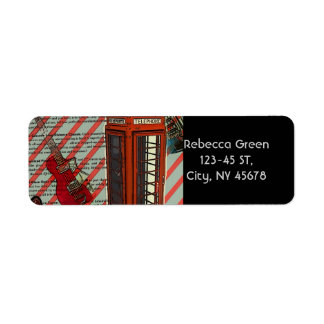 Rotes Telefon-Band-Rock'n'Roll-elektrische Gitarre Rücksende Aufkleber