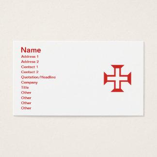 Rotes Templar Kreuz Visitenkarte