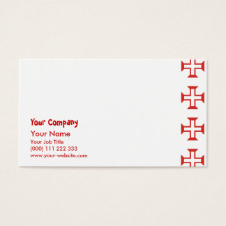Rotes Templar Quermuster Visitenkarte