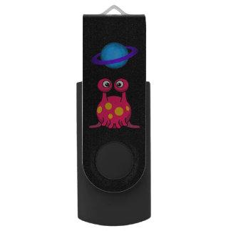 Rotes Tentakel-alien USB Stick