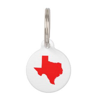 Rotes Texas Haustiermarke
