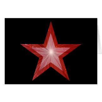 Rotes Ton-Grußkartenschwarzes des Sternes zwei Karte