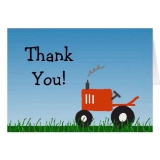 Rotes Traktor-Party danken Ihnen zu merken Karte