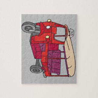 Rotes Tuktuk Puzzle