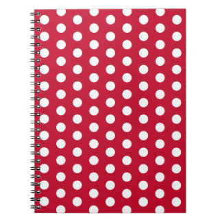 Rotes Tupfen-Küchen-Rezept-Notizbuch-Geschenk Notizblock