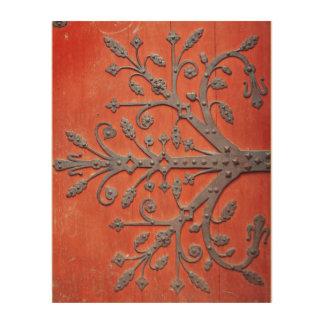 Rotes Tür-Schmiedeeisen-Baum-Abziehbild Holzwanddeko