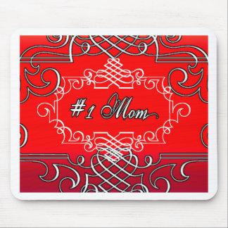 Rotes Typografiegeschenk MAMMA #1 Mutter Tages Mousepad