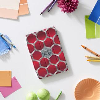 Rotes u. metallisches silbernes geometrisches iPad mini hülle