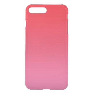 Rotes u. rosa Ombre iPhone 8 Plus/7 Plus Hülle