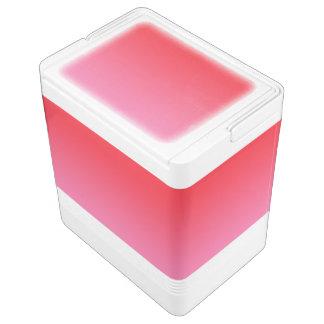 Rotes u. rosa Ombre Kühlbox