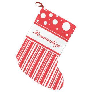 Rotes u. weißes Weihnachten Kleiner Weihnachtsstrumpf