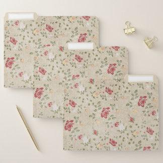 Rotes und beige Blumen Papiermappe
