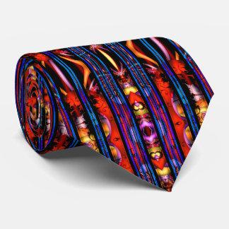 Rotes und blaues geometrisches Fraktal Individuelle Krawatten