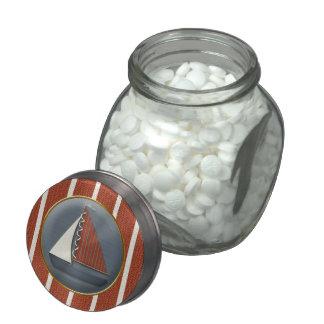 Rotes und blaues Segelboot-Babyparty-Süßigkeits-Gl Porzellanbehälter