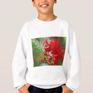 Rotes und grünes abstraktes sweatshirt