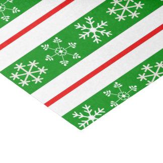 Rotes und grünes Schneeflocke-Seidenpapier Seidenpapier