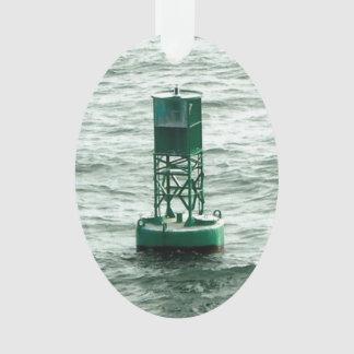 Rotes und grünes Seebojen Ornament