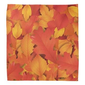 Rotes und orange Herbst-Blätter Kopftuch