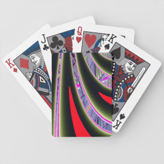 Rotes und schwarzes Fraktal Bicycle Spielkarten