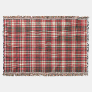 Rotes und schwarzes kariertes Muster Decke