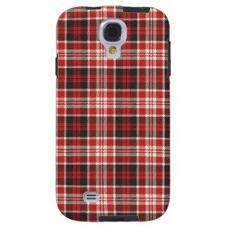 Rotes und schwarzes kariertes Muster Galaxy S4 Hülle