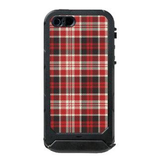 Rotes und schwarzes kariertes Muster Incipio ATLAS ID™ iPhone 5 Hülle