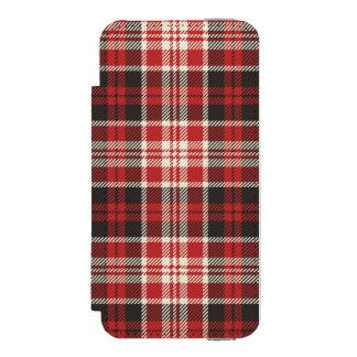 Rotes und schwarzes kariertes Muster Incipio Watson™ iPhone 5 Geldbörsen Hülle
