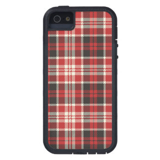 Rotes und schwarzes kariertes Muster iPhone 5 Schutzhülle